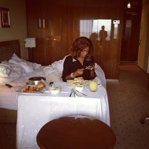 Chika Ike in hotel room