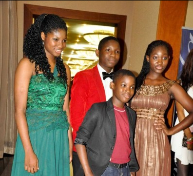 All grown up! Omotola Jalade-Ekeinde's children at the ...