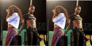 dbanj touches butt